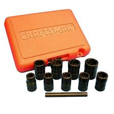 Craftsman 10 Piece Impact Grade Bolt-Out Damaged Bolt and Nut Remover Set w/Case
