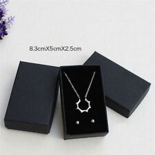 Black Paper Package Case Ring Necklace Earrings Bracelet Jewelry Gift Box PIZY
