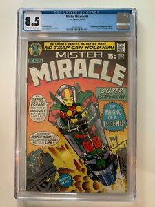 Mister Miracle #1 - DC 1971 CGC 8.5 1st Appearance Mr. Miracle and Oberon!