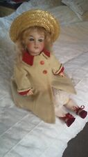 """Lovely SFBJ 301 20"""" French Bisque-Head Antique Doll circa 1900's"""