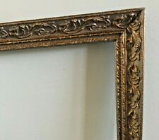 Antique Ornate Gesso Wood Carved Frame Picture Photo Gilded Gold Baroque 20x16