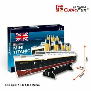 CUBIC FUN 30pcs Titanic Steamship Boat DIY 3D Puzzle Model Building Kit Toy Game