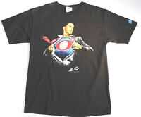 Super Barack Obama  T-Shirt Medium M Black 2008 Graphitti by Alex Ross