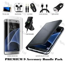 9 X Accessory Bundle Case Screen Protector Car Charger Kit for Samsung S7 Edge