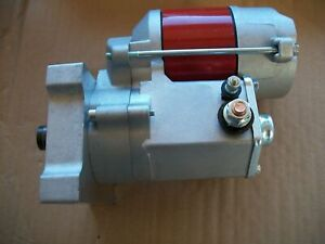 FMR RED MINI STARTER JM7008B, OLDSMOBILE PONTIAC V-8 DENSO STYLE, 360 ROTATION