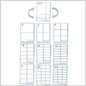 Labels - A4 Adhesive Sticky Inkjet and Laser Printer Labels / Integrated Labels