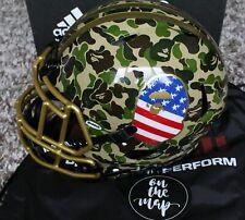 Adidas x Bape x Riddell Superbowl SB NFL Green Camo American Football Helmet New