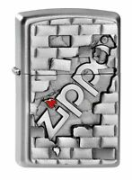 Zippo Wall Emblem Windproof Pocket Lighter - Chrome