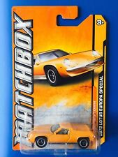 2012 Matchbox ORANGE 1972 LOTUS EUROPA SPECIAL UK sports coupe - long card!