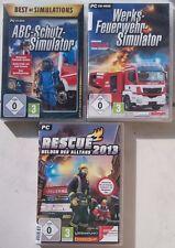 Rescue 2013 héros de la vie quotidienne + USINE Pompiers Simulator + ABC-Protection-Simulateur