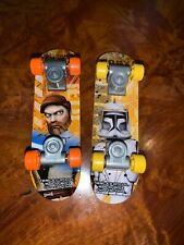 2 2010 McDonald's Mini Skateboards - The Clone Wars ~ Cody & Obi-Wan