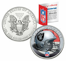 OAKLAND RAIDERS 1 Oz American Silver Eagle $1 US Coin Colorized NFL LICENSED