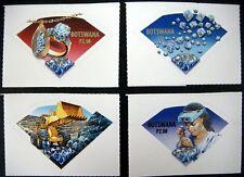 BOTSWANA DIAMOND STAMPS SET 4 2001 MNH SELF ADHESIVE DIAMOND SHAPED STAMPS GEMS