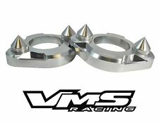 x2 SILVER VMS RACING SPIKED STRUT TOWER SUPPORT BRACES 90-93 ACURA INTEGRA DA9
