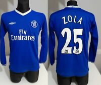 Chelsea London 2003 #25 ZOLA Longsleeve football shirt soccer jersey Umbro S men