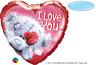 "Valentine's Day I Love You Tatty Teddy 18"" Love Heart Foil Balloon Decoration"