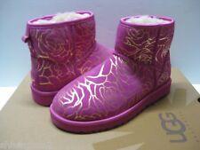 Ugg Classic Mini Metallic Rosebloom Red Velvet Women Boots US7/UK5.5/EU38/JP24