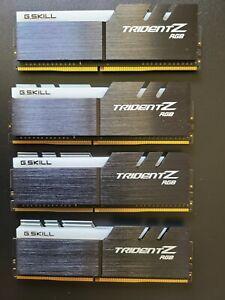 G.SKILL TridentZ RGB Series 32GB (4 x 8GB) DDR4 3000MHz F4-3000C16D-16GTZR
