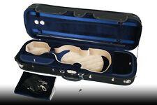 Petz 4/4 Geigenetui Violinetui Tasche Etui für Violine Geige schwarz/blau/beige