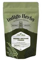 Organic Shatavari Powder 100g, Pure Asparagus racemosus - Indigo Herbs