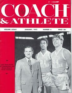 1972 Coach & Athlete magazine basketball Dean Smith Chamberlain North Carolina G
