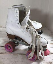 Chicago 8601k Ladies Rink Roller Skates White Size  9 Heeled