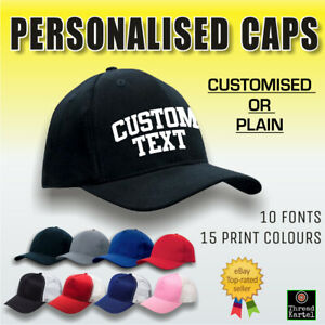 Personalised Baseball Cap WITH TEXT  - Custom Hat - Truckers Hat