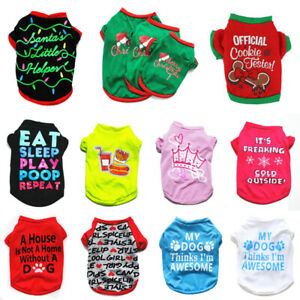 Various Pet Puppy Small Dog Cat Pet Clothes Vest T Shirt Apparel Clothes Costume