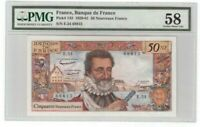 "France 50 NF Francs Banknote 1960 Pick# 143 PMG Choice About UNC 58 ""Vintage"""