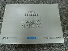 1994 Mazda MX3 Precidia Hatchback Owner Operator Manual User Guide GS 1.6L 1.8L
