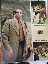 1973-74 PHILADELPHIA FLYERS Yearbook Stanley Cup Champs 16Autographs Shero,Flett