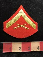 Vintage 1 Stripe Insignia Rank United States MARINE CORPS Patch - Military 83M2