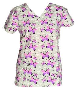 365 Work & Wear Women's Fashion Medical Nursing Scrub Tops