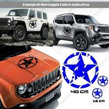 3 PEGATINAS ADESIVAS COCHE PUERTA ESTRELLA STAR ARMY LAND ROVER DEFENDER AZUL