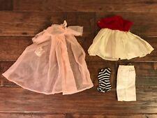 "(4) 1960s Vintage (Mattel) ""Barbie"" Clothing Lot, (Nightgown/Dress/Skirt/Su it)"