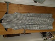 vintage dress long casual club linen and cotton vgc 14