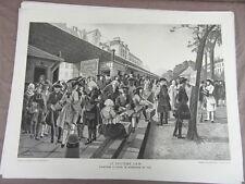 affiche ECOLE SCOLAIRE 1955/60 signée ALFRED CARLIER HISTOIRE CIVILISATION 8/22