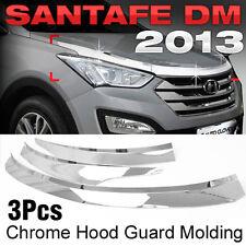 Chrome Hood Guard Garnish Molding Trim D502 for HYUNDAI 2013 - 2018 Santa Fe DM