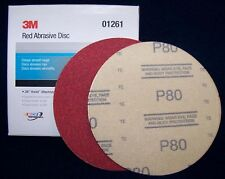 "3M Red 1261 Hook It 6"" Disc Sandpaper 80 grit 50/bx"