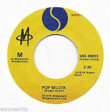 M * 45 * Pop Muzik * 1979 #1 Smash HIT * USA * VG++/ NM ! ORIGINAL SIRE * Music