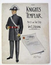 Knights Templar-New York Commandery- March and Two-Step-1906 sheet music -Good