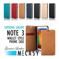 Mecasy Genuine Leather Wallet Style Phone Case Samsung Galaxy Note 3 N9000 VOIA