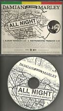 DAMIAN & STEPHEN MARLEY All Night w/ RARE INSTRUMENTAL PROMO DJ CD single 2006