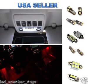 11pc LED Interior Package Kit For VW Volkswagen Passat B6 - RED Footwell LEDs