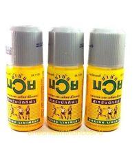 3 X Bottle Namman Muay Thai Boxing Oil Liniment Muscular Pain Relief 120 cc.