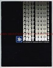 1981 Budweiser Fact Book 8½ x 11 inch 35 Pages Tavern Trove
