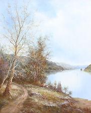 Hyun Bo Yoo (Korean, 1946-) Oil on canvas Painting of Forest Signed Hyun Bo Yoo