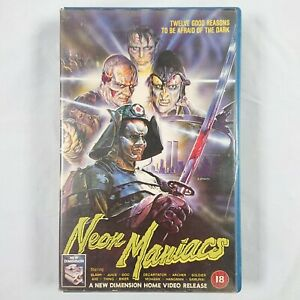 Neon Maniacs - Big Box Pre/Post Cert Ex-Rental VHS PAL 1987 New Dimension