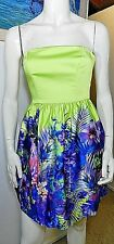 Forever New strapless floral print dress party cocktail races weddings size 6