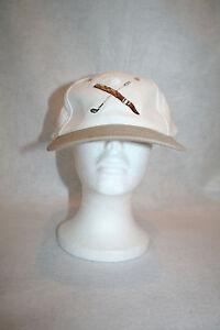 The Original Cigar Co Golf Club Ball Cigar White Baseball Strapback Cap